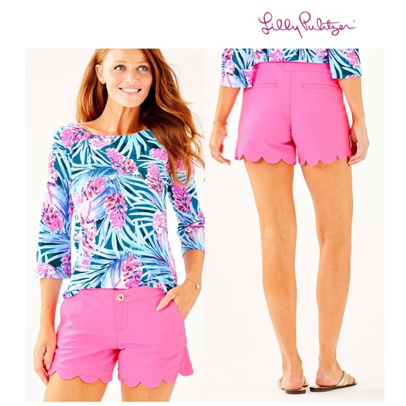 "3802efdf2475b0 Lilly Pulitzer Pants - Lilly Pulitzer ""Buttercup"" Shorts"